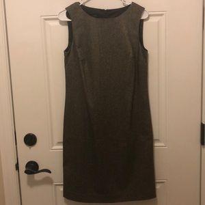 NWT TALBOTS Olive Green Sheath Dress Size 4